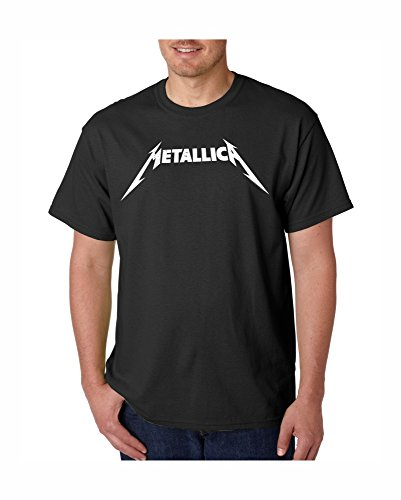 METALLICA Distressed Logo T-Shirt New Authentic Heavy Rock Metal Music Band Tee Shirt (L, (Distressed Logo T-shirt)