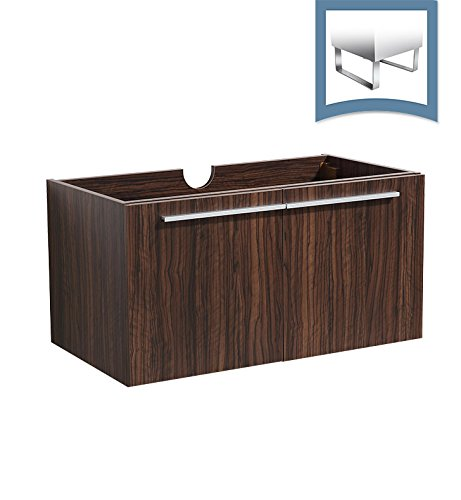 Modern Bathroom Cabinet (Fresca Vista Walnut)