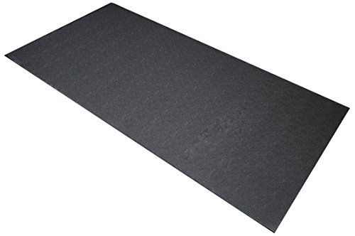 (BalanceFrom GoFit High Density Treadmill Exercise Bike Equipment Mat, 3 x 6.5-ft, Regular)