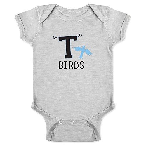 T Birds Gang Logo Costume Retro Gray 12M Infant Bodysuit