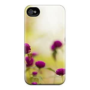 Anti-scratch Case Cover Phone Case Protective Purple Garden Flowers Case For Iphone 4/4s