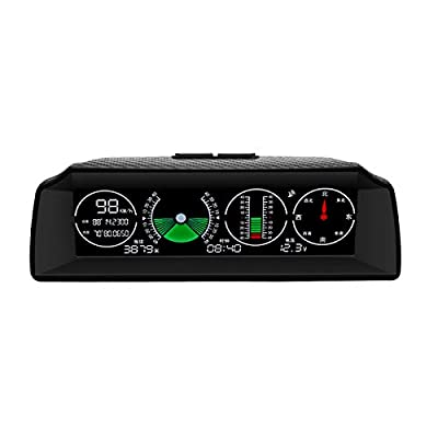 WonVon Smart GPS Slope Meter,Car HUD GPS Speedometer Digital Inclinometer Level and Angle Gauge Bevel Gauge Tilt Gauge Finder: Automotive