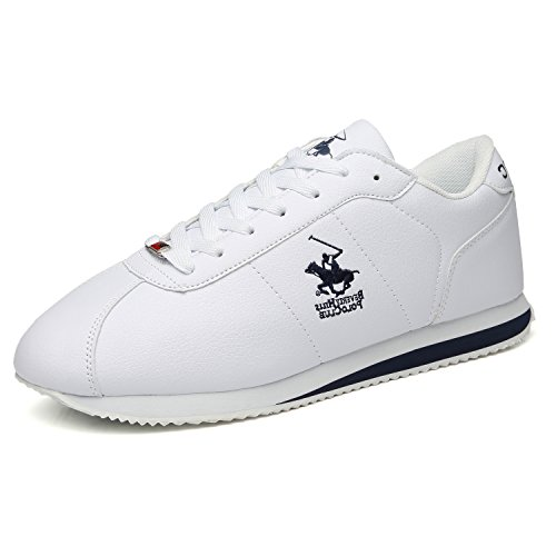 Beverly Hills Polo Club Mens Fashion Sneakers Basic Leather Casual Walking Shoes Sports Running Shoes Lightweight Athletic Training Shoes for Men