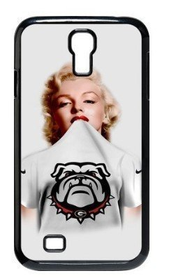 Charming Enchanting Sexy Marilyn Monroe in NNCAA Georgia Bulldogs Jersey Black Hard Case for SamSung Galaxy S4 I9500 by Christmas Gift (Marilyn Sexy Women Costume)