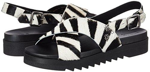 Sandalias Calf Liebeskind zebra Hyena Ls172050 Grey Berlin Mujer Para Multicolor 7t7vxEqOw1