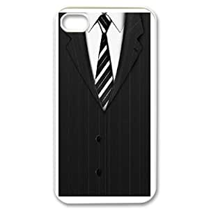 DIY Printed Suit hard plastic case skin cover For iPhone 4,4S SNQ933381