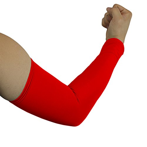 Elixir Arm Sleeves 6 Pairs Bundle Pack for Cycling, Golf, Tennis, Hiking and Outdoor Activities, 6 Pairs Red by The Elixir Golf (Image #1)