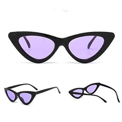 Petites Lunettes De Soleil En Yeux De Chat Pointues,OverDose Femme Intégré UV Mode Sunglasses M