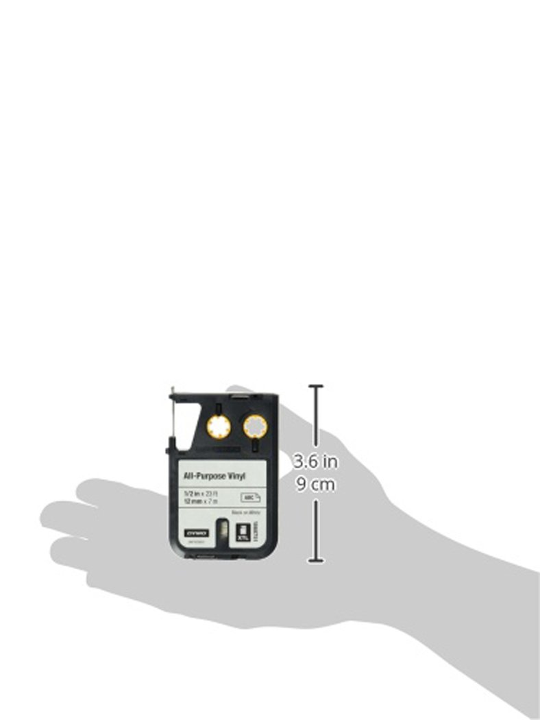 DYMO XTL Allzweck-Vinyletikett 24 mm x 7 m Schwarz auf Grau