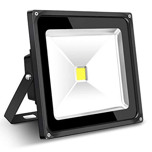 (SZHSR 50W LED Flood Light, IP66 Waterproof, 5000lm, Outdoor Super Bright Security Lights, 5000K Daylight White, Floodlight Landscape Wall Lights 85-265V)
