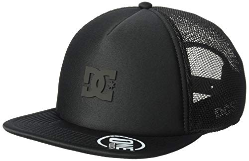 DC Men's Greet UP Trucker HAT, Black, 1SZ -