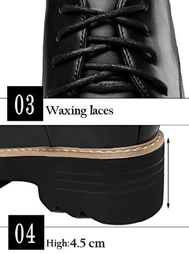 à Moyens Femme Chaussures Lacets Femme Talons Yxx Avec YUISwfx