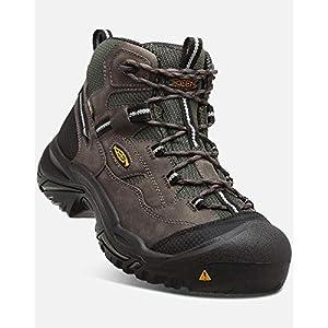 KEEN Utility – Men's Braddock All Leather Mid Waterproof (Steel Toe) Work Boots