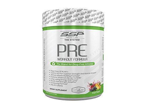SSP NUTRITION PRE Workout Formula for Powerlifters – WADA Compliant, IPF Approved