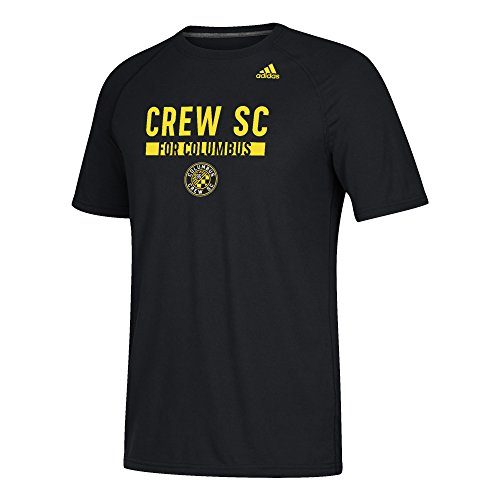 (adidas MLS Columbus Crew Men's Ultimate Utility Work Short-Sleeved Tee, X-Large, Black)