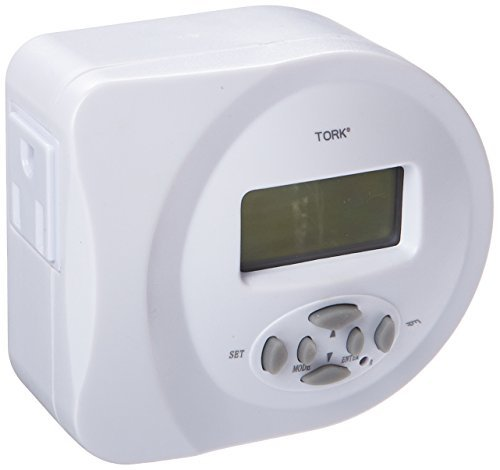 400D Series Indoor General Purpose Ultimate Plug-In 2-Outlet Timer, Grounded Plug, 15 Amp Current, 2 Outlets by