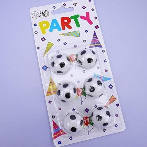 Club Verde Vela 3D balones de fútbol, Color Blanco, 6 Unidades ...