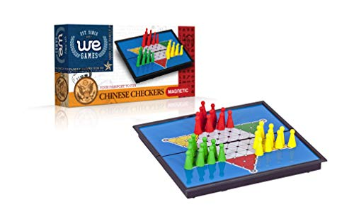 (WE Games Magnetic Travel Chinese Checkers Board Game- 8 x 4 in. )