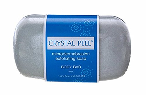 Crystal Peel Microdermabrasion Exfoliating Soap Body Bar, 8 (Body Buffing Cleanser)
