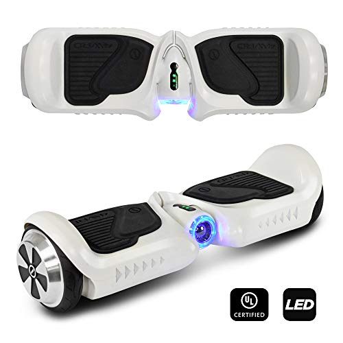 C H O Light Weight Foldable Adjustable Height Smart Electric Power Assisted Scooter for Kids (White Hoverboard K2)