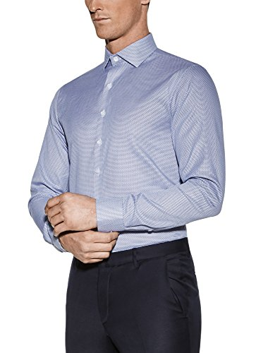 Vardama Men's Micro Dot Blue Breathable Shirt With Sweat Proof Technology Essex (Large) -
