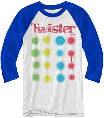 f5fa6135c Twister Logo Board Game Raglan T-Shirt Adult Tee 3/4 Length Sleeve Classic