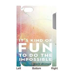 Clzpg 3D DIY Iphone4,Iphone4S Case - Walt Disney Quotes 3D cell phone case