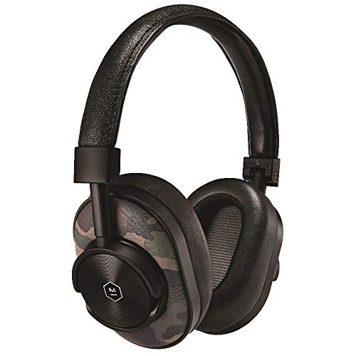 Price comparison product image Master & Dynamic MW60 Premium Leather Wireless Over-Ear Headphones with Bluetooth 4.1 and 45mm Neodymium Driver for Superior Sound,  Black Metal / Camo Leather