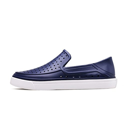 Vamp Scarpe 45 Dimensione uomo da Light Men's blue taglia Sandali Heel Jiuyue Hollow Scuro fino 44 shoes Color alla Blu moda alla Flat EU wOpqFnXS