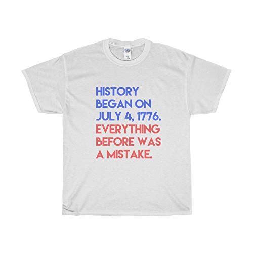 Funny Conservative Novelty T-Shirt - History Started T-Shirt - Perfect for Republicans   Men & Women - Unisex (Best Conservative Talk Radio Stations)