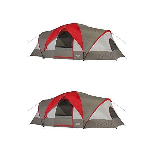Wenzel Great Basin 10 Person 3 Room Easy Setup Family Campin
