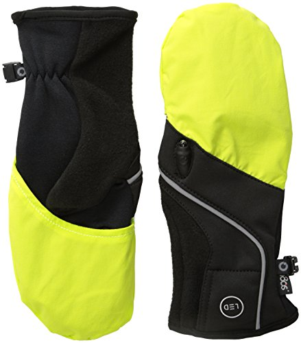180s CRG Led Running Glove, Black Lime, Small/Medium (180s Green)