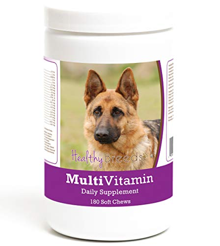 Healthy Breeds Multi Vitamin Daily Supplement Soft Chews for German Shepherd, Brown - Over 200 Breeds - Veterinarian Formulated & Recommended Dietary Support - 180 Chews (Best Supplements For German Shepherds)