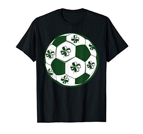 St. Patricks Day Shirt Shamrock Soccer Ball Football Lover