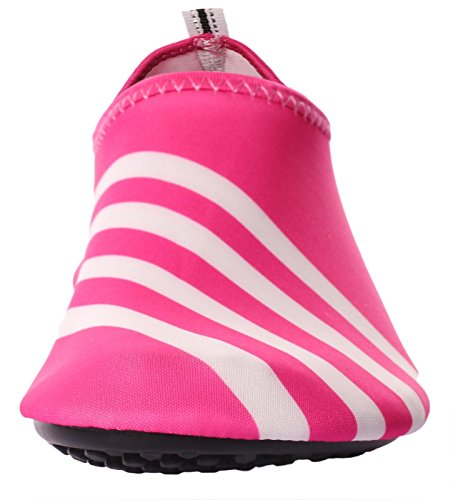 Caihee Dames En Heren Lichtgewicht Sneldrogende Slip Op Waterschoenen Aqua Barefoot Skin Shoes Red3