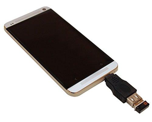 ReadyPlug® USB OTG Host Adapter for Jabra VOX Headphones USB OTG Male to USB Female (Black)