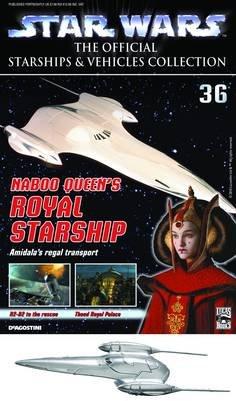 STAR WARS VEHICLES COLL MAG #36 ARC-170 NABOO QUEENS ROYAL (Naboo Star)