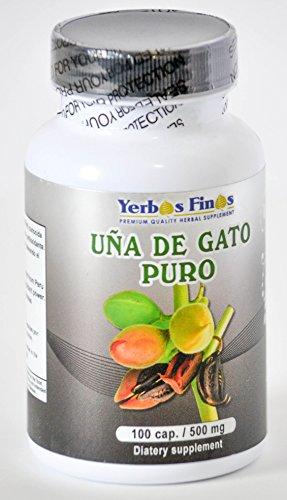 Yerbas Finas Una de Gato Puro 100 Cap/ 500mg Dietary