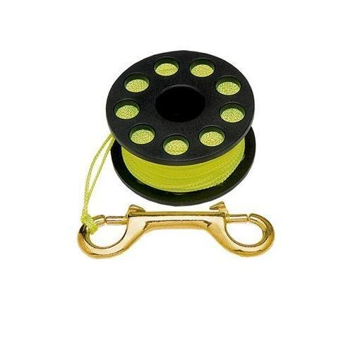 Finger Reel with Brass Clip Wreck Scuba Diving Tech Spool 3 Sizes, MEDIUM 100 FT (Marker Surface Buoy)