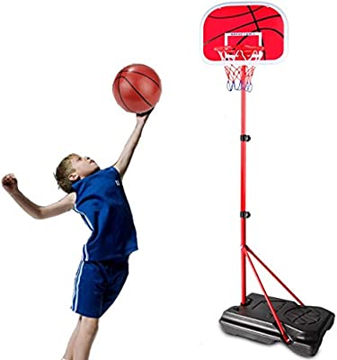 LLJXC 200cm Ajustable del aro de Baloncesto del Equipo con Dos ...
