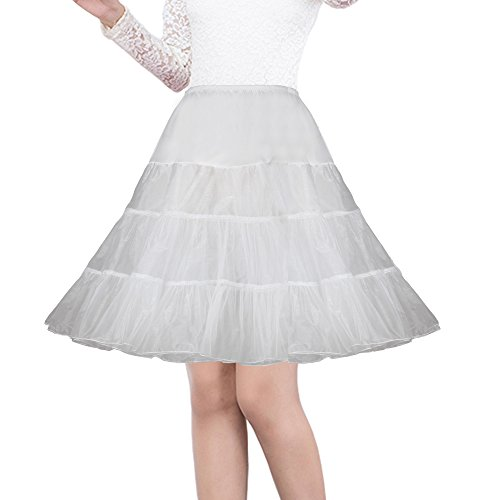 Shimaly Women's 50s Vintage Rockabilly Petticoat 26