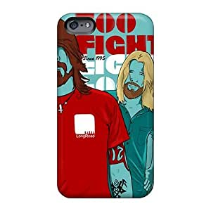 Great Hard Phone Covers For Iphone 6plus With Customized Realistic Foo Fighters Band Pattern SherriFakhry