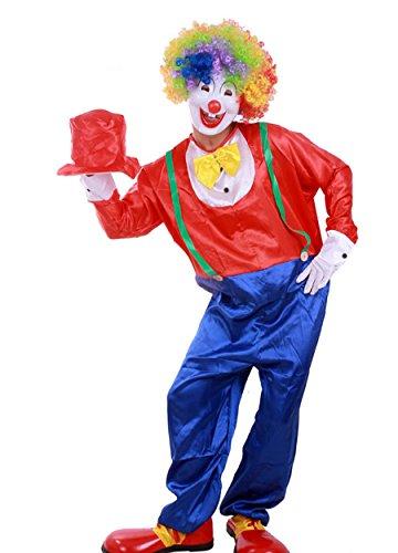 Halloween Adult-sized Clown Costumes Clown Performance Se...