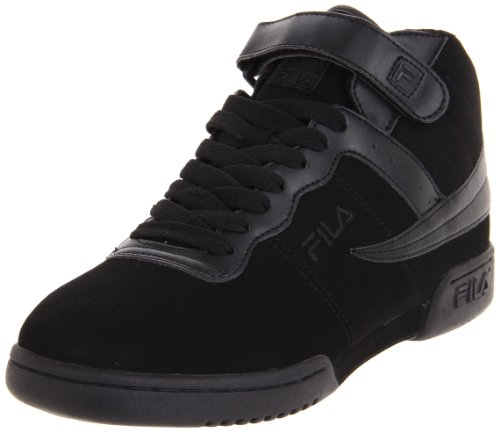 Fila Men's F13 Nubuck Shoes,Triple Black Leather,13 M US
