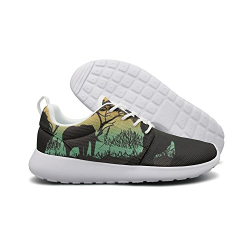 Saerg Bearry Women's Africa Silhouette Cool Lightweight Mesh Running Shoes Print Sneakers by Saerg Bearry