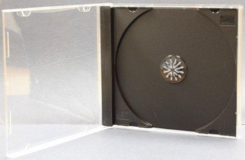 AcePlus 10 pieces CD Jewel Case Black Single with bonus 50 pc Color Paper Sleeve (Cases Dvd Single Jewel Cd)