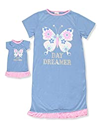 Dollie & Me Girls' Nightgown with Doll Outfit