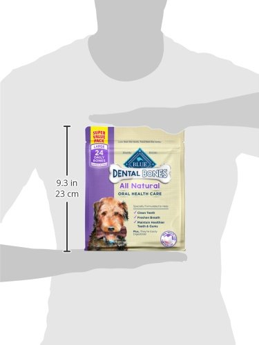 Blue Buffalo Dental Bones Natural Adult Dental Chew Dog Treat, Large 12-oz bag by Blue Buffalo (Image #7)