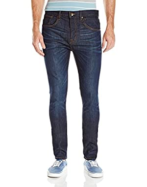 Men's Low Bridge Icy Blue 32 in. Skinny Fit Jeans and HDO Travel Sunscreen (15 SPF) Spray Bundle