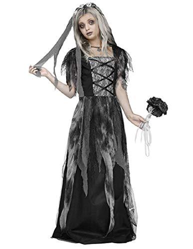 Fun World Cemetery Bride Child Costume, X-Large,
